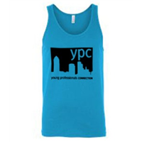 Tank Top - Black on Neon Blue