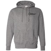 Zip Up - Black on Gunmetal Heather