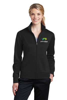 Sport-Tek Ladies Sport-Wick Fleece Full-Zip Black