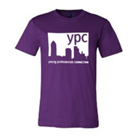 Short Sleeve - White on Purple