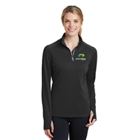 Sport-Tek Ladies Sport-Wick 1/4 Zip Pullover Black