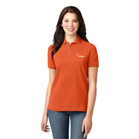 Ladies Short Sleeve Polo Orange