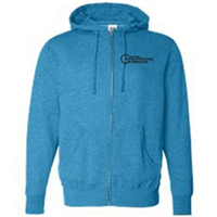 Zip Up - Black on Turquoise Heather