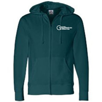 Zip Up - White on Dark Teal