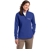 Ladies 1/4 Zip Sweatshirt True Royal