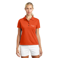 Ladies NIKE Polo Orange Blaze