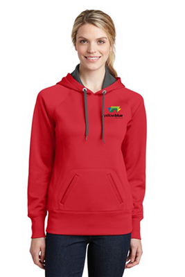 Sport-Tek Ladies Tech Fleece Sweatshirt Red