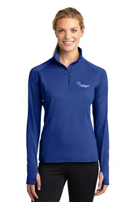 Ladies Sport Wick 1/4 Zip True Royal