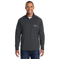 Sport Wick 1/4 Zip Charcoal Grey
